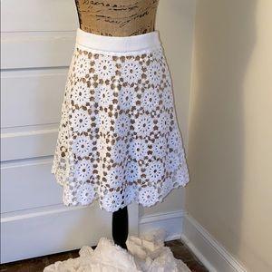NWT Michael Kors white skirt.